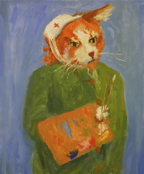 Curney Nuffer Title: Cat van Gogh