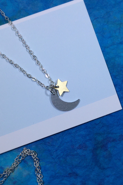Dana Masters Title: Moon and Star Necklace