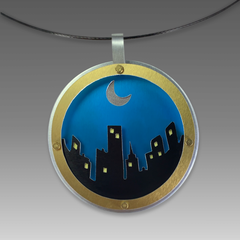 Dana Masters  TItle: RVA Skyline  Necklace