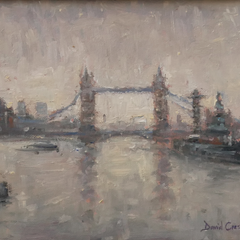 David Cressman Title: Gray Day Tower Bridge #028