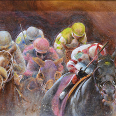 Diana Scott-Auger Title: Jockeying for Position #2
