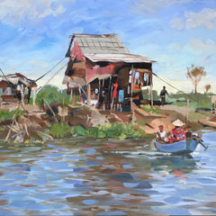 Doug Zeigler Title: Fishing Cottage on the Mekong