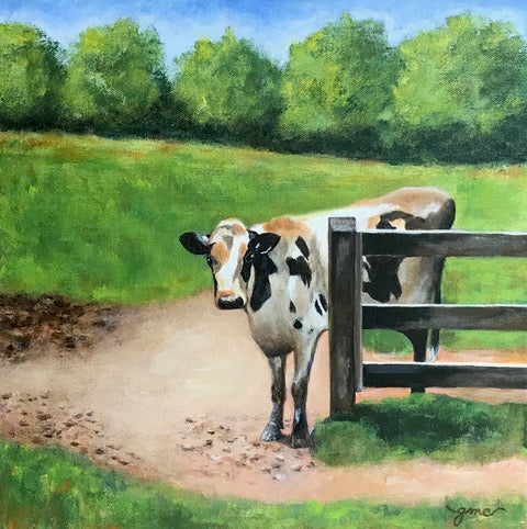 Art for the Journey Gail Clevenger Title: The Nosy Neighbor
