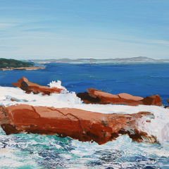 George Heath Title: Rocks of Acadia