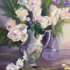 Gleason, Renee Title: Roses in a Silver Pitcher