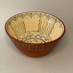 Unknown Artist Title: Hand Carved and Painted Bowl
