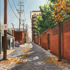 Hollett-Bazouzi, Linda Title: Alley Wall, Plaza Art