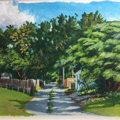 Hollett-Bazouzi, Linda Title: Fulton Alley: Summer