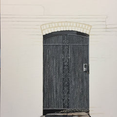 Hollett-Bazouzi, Linda Title: Door 3: Wrought Iron Gate