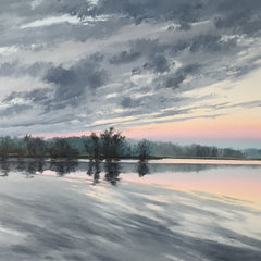 Hollett-Bazouzi, Linda Title: Clouds Breaking, Sunrise, on the Mattaponi