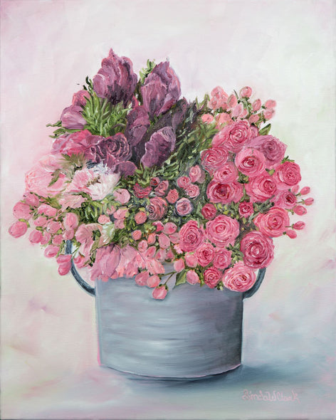 Linda W Clark Title: Flower Bucket