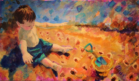 Kathleen Calhoun Title: Little Man in the Sand
