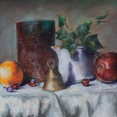 Muthulakshmi Anu Narasimhan Title: Still Life with a Fruit and Bell