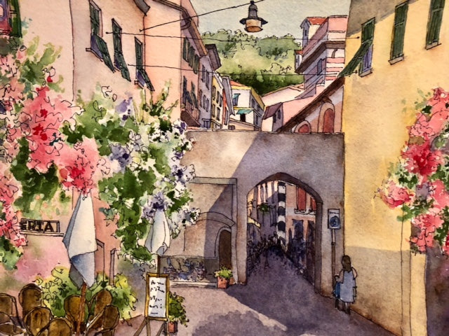 Marti Franks Title: Pathways in Monterosso