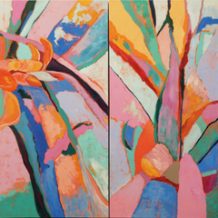 Mary Montague Sikes Title: Voices in the Garden 1 & 2
