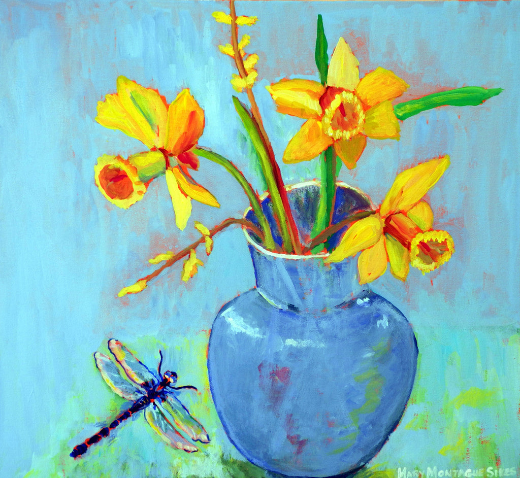 Dragonfly and Daffodils