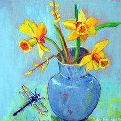 Mary Montague Sikes Title: Dragonfly and Daffodils