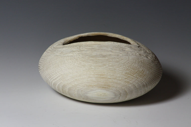 Barbara Dill  Title:Oak Vessel with carved opening