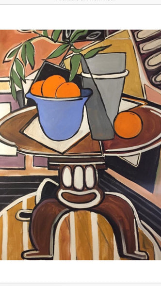 Ruth Reilly Palczynski Title: Orange Still Life