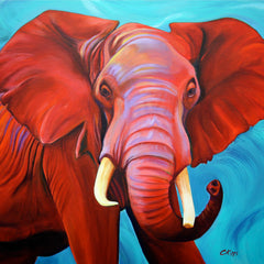 Carolyn Kipps  Title:Red Elephant