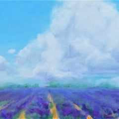 Renee L Gleason Title: Clouds Over Lavender Fields