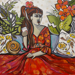 Ruth Reilly Palczynski Title: Girl with Red Flower in Her Hair