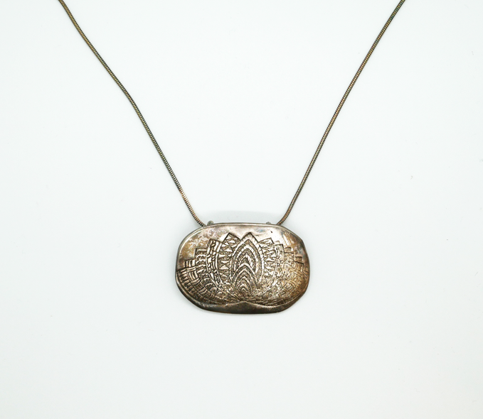 Sherry Siewert Title: Zen Lotus Pendant: Large