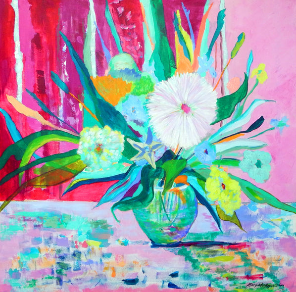 Mary Montague Sikes Title: Bright Blossom Square 3