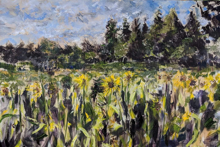 Elaine Murkin Title: Summer Afternoon In The Sunflower Field