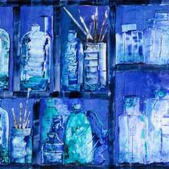 Sylvia deShazo Title: Magic Paint Cupboard - Blue