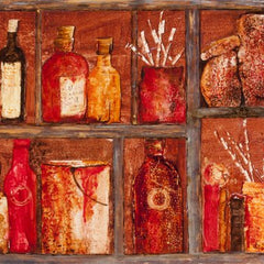Sylvia deShazo Title: Magic Paint Cupboard - Red