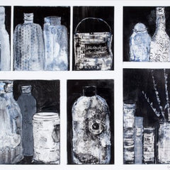Sylvia deShazo Title: Magic Paint Cupboard - Black & White