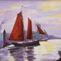 Sylvia deShazo Title: Red Sails