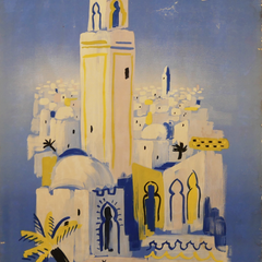 Vintage Travel Poster Title: Air France - Afrique Du Nord, Villemont