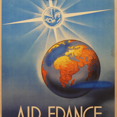Vintage Travel Poster Title: Air France, Rayonne Sur La Monde - Maraus