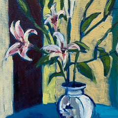 Laura Partee Title: Vase of Lilies for You