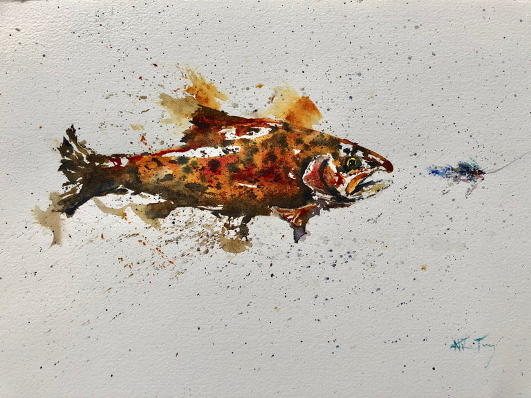 Artist: Nick Terry Title:  Trout Temptation