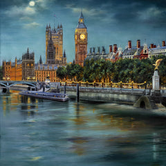 Gulay Berryman Title: Along The Thames at Night, London