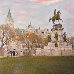 Susan Bock Title: Washington Monument, Capitol Square, 1905