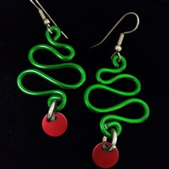 Kazuko Fuller Title: Green Xmas Tree Earrings
