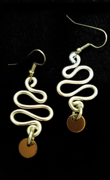 Kazuko Fuller Title: Silver Xmas Tree Earrings