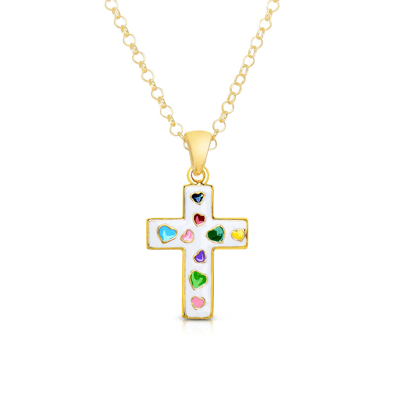White Cross Children's Necklace