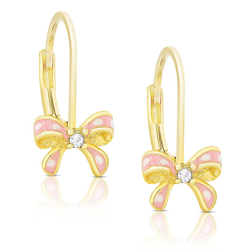 Bow Leverback Earrings