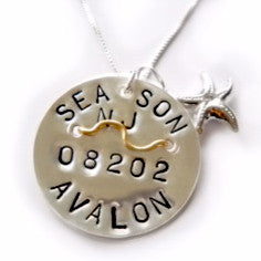 Avalon Beach Tag Pendant and Necklace.