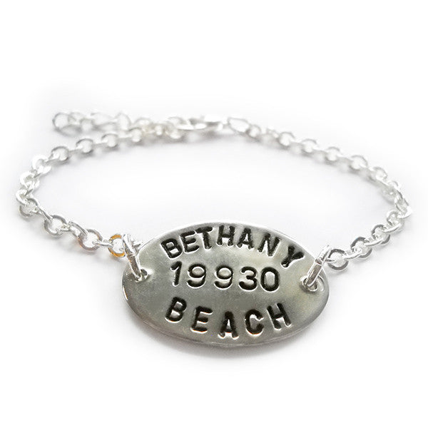 Bethany Beach Silver Plate Beach Tag Plaque