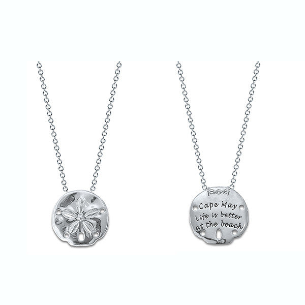 Cape May Sterling Silver Engraved Sand Dollar