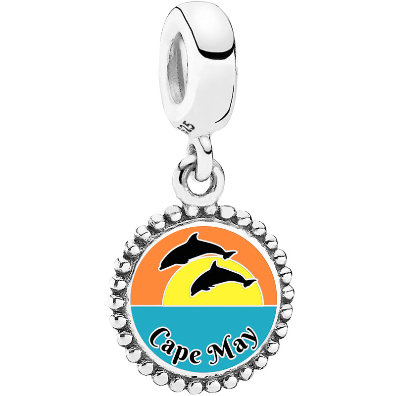 Dolphin Sunset Cape May Pandora Charm