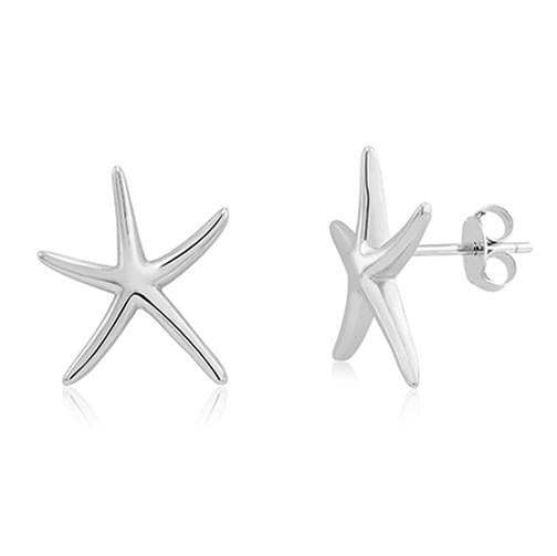 Sterling Silver Starfish Post Earrings