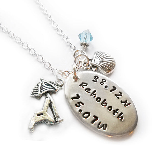 Rehoboth Beach Charm Necklace