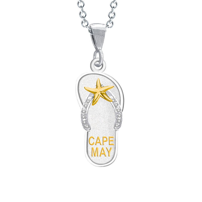 Cape May Flip Flop Necklace